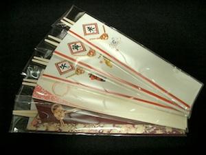 日本製の祝い箸
