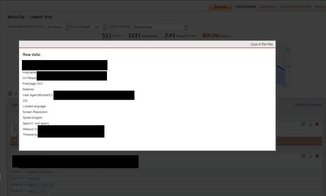 WassUpデータ画面
