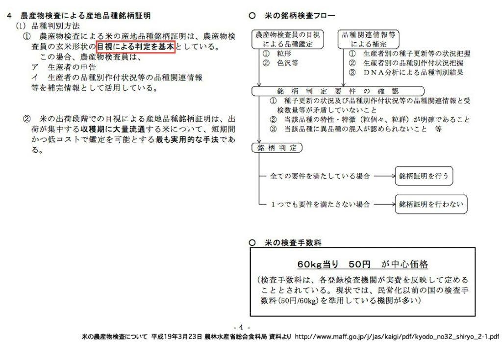 米の農産物検査について 農林水産省