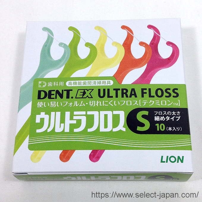 ライオン ウルトラフロス 歯科用 made in japan 歯間ブラシ