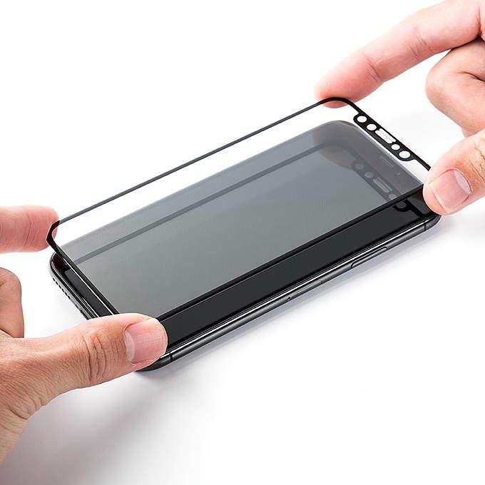 サンワダイレクト サンワサプライ 旭硝子 iPhone X 保護フィルム 保護ガラス 200-LCD050BK 日本製 made in japan