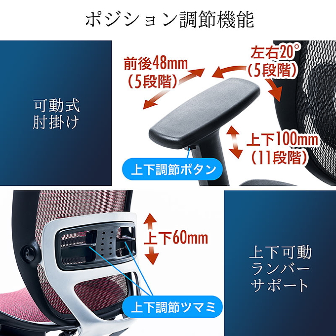 150-SNCM009 日本製 高機能チェア メッシュ made in japan サンワダイレクト