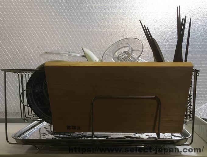日本製 ステンレス製 水切りかご スライド式 made in japan まな板立て