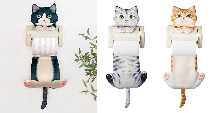 フェリシモ 猫部 わんにゃん基金 トイレタリー ペーパーホルダー 日本製