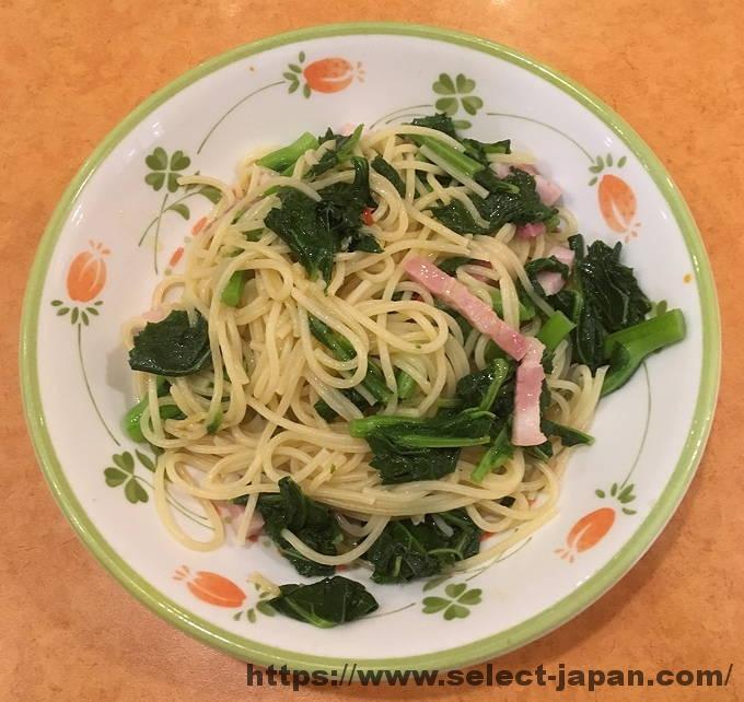 サイゼリヤ 季節限定 ほろにが菜の花スパゲッティ スパゲッティ パスタ 菜の花 菜花 パンチェッタ 国産
