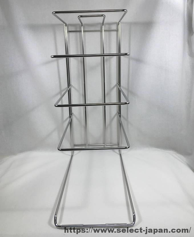 日本製 フライパンラック ステンレス製 made in japan