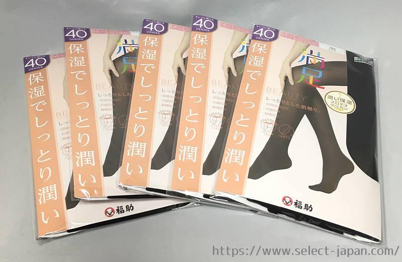 福助 Fukusuke フクスケ 満足 保湿 40デニール プロテオグリカン 日本製 made in japan