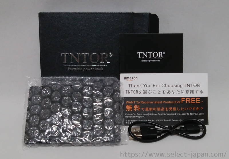 TNTOR mobile battery モバイルバッテリー 薄型 軽量 中国製 made in china