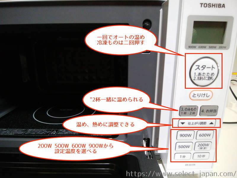 東芝 TOSHIBA ER-SS17A 縦開き 横開き 電子レンジ 単機能 made in china